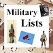 World History Lists - MILITARY by Reference Geek Apps