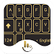 TouchPal Black Gold Theme by Love Free Themes