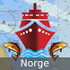 Norway: Marine Navigation Charts & Fishing Maps by Gps Nautical Charts