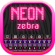 Neon Zebra Keyboard by Keyboard Themes with Emojis for Android