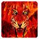 Harimau Api Kertas Dinding by Tony Dev