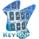 Crooked Text Keypad Cover by Alpha Themes