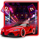 Racing Red Car Keyboard Theme