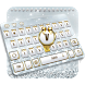 Silver And Gold Keyboard by Keyboard Tema Designer