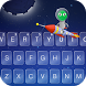 Starry Night Theme Keyboard by Emoji Keyboard Theme Studio