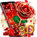 3D Gold Rose Theme