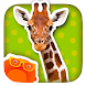 Kid Safe Flashcards - Animals: Learn First Words!
