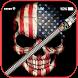 USA Skull Zipper Lock Screen: lockscreen passcode by InstaSweetApp