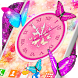 Butterflies Analog Clock Live Wallpaper by 3D HD Moving Live Wallpapers Magic Touch Clocks