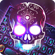 Neon skull Keyooard for Hardwell by Sexy Theme for Smart Phone