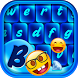 Blue Emoji Keyboard Themes by Customize My Phone