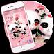 Pink Panda Love by Launcher phone theme