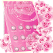 Pink Rose Diamond Launcher by Cool Launcher Theme