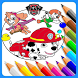 Coloring Page for Paww Patrol fans by Magic Coloring World