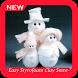 Easy Styrofoam Clay Snowman Ornaments by Kigami Apps