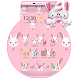 Rabbit Pink Cute Love Theme by Little Cat