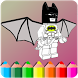 How to color Lego Batman (coloring game) by Appspromaker89