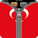 Turkey Flag Zipper Screenlock by country zipper lock screen free hd