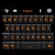 GO Keyboard Black Orange Theme by Stealthychief GO Themes