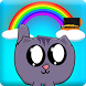 Rainbow Laser Cat by IDGAF