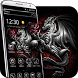3d Rose Silver Dragon Theme by cool theme creator