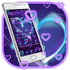Blue Neon Love Launcher by Cool Launcher Theme