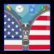 Usa Flag Zipper Lock Screen by Flag Lock Apps