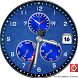blue triplex dials watch face by androidworld