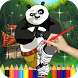 Kung Fu Kid Coloring for Panda by Moji Coloring