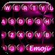 Spheres Pink Emoji Keyboard by Themes Dialer