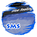 Blue feeling GO SMS by Sublime Themes