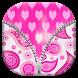 Cute Pink Zipper Lock Screen by Best Live Lock Screen