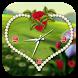 Rose clock live wallpaper by 3 Steps Developer