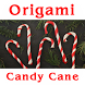 Origami Candy Cane by SunflowerBlogger