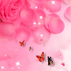 Pink Petals Love by Launcher phone theme