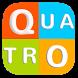 QUATRO LETRAS Jogo de palavras by Ov-apps