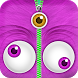Cute Monster Lock Screen Zipper by Customizable Apps