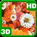 Bloom Zinnias Flowers Drift 3D by PiedLove.com Personalization