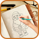 How to draw Christmas 2018 - Draw Santa Claus by GNSN Soft. App