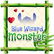 Blue Wizard Monster Theme&Emoji Keyboard by Fun Emoji Theme Creator