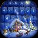 Silent Night Keyboard with Emojis by Sweet Princess Games