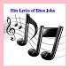 Hits Lyrics of Elton John by LYRICS Free Song Music