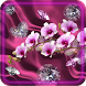 Diamonts and Orchids LWP by Free Live Wallpaper Lab
