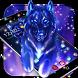 Wild Ice Wolf Night Sky Theme by Beauty Theme Studio