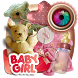 Baby Girl Scrap Photo Frames by best phone apps