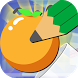The Rolling Orange and Pencil by GaLboa,Inc.