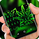 Psychedelic green weed Keyboard by Sexy Theme for Smart Phone
