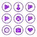 Purple On White Icons By Arjun Arora by Arjun Arora