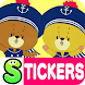 TINY TWIN BEARS Stickers by peso.apps.pub.arts