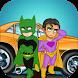 Super heroes Car Racing Games by TAT Games